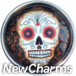 GS162 Sugar Skull Snap Charm