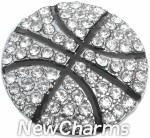 GS324 Bling Basketball Snap Charm