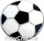 GS327 Enamel Soccer Ball Snap Charm
