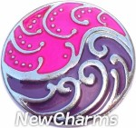 GS342 Huntress Pink And Purple Snap Charm