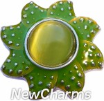 GS347 Green Seastar Flower Snap Charm