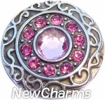 GS401-9 Vintage Swirl Birthstone September Snap Charm