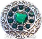 GS401-5 Vintage Swirl Birthstone May Snap Charm