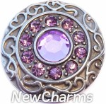 GS401-6 Vintage Swirl Birthstone June Snap Charm
