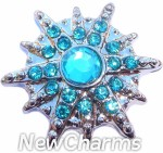 GS501 Starburst Blue Snap Charm