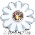 GS515 White Daisy Snap Charm