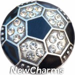 GS602 Bling Soccer Ball Snap Charm