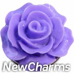 GS610 Enamel Purple Flower Snap Charm