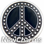 GS625 Riveted Peace Sign Snap Charm
