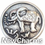 GS626 Ornate Elephant Snap Charm