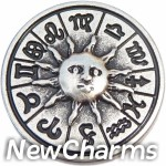 GS627 Sun and Zodiac Signs Snap Charm