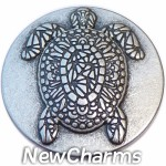GS664 Henna Turtle Snap Charm