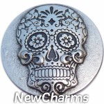 GS668 Sugar Skull Snap Charm