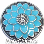 GS675 Blue Flower Snap Charm