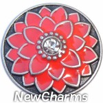 GS676 Coral Flower Snap Charm