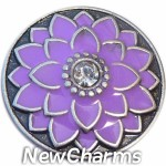 GS677 Purple Flower Snap Charm