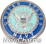 GS681 United States Navy Snap Charm