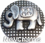 GS687 Cute Elephant Snap Charm