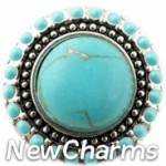GS908 Decorative Turquoise Snap Charm