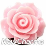 GS914 Enamel Pink Rose Snap Charm