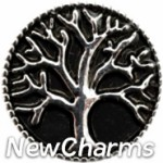 GS921 Tree Of Life On Black Snap Charm