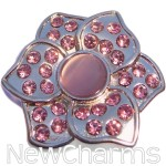 GS941 Pink Lotus Flower Snap Charm