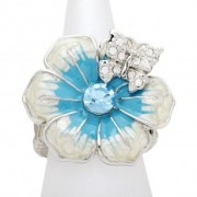 Blue Butterfly Kisses Ring