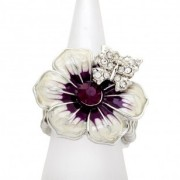 Wine Butterfly Kisses Ring